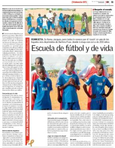 """Article published in the newspaper """"Superdeporte"""""""