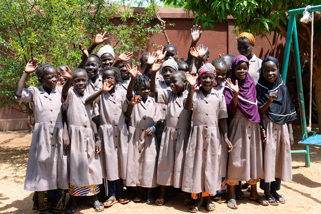 "Girls from FAR's 7th ""unschooled girls"" class"